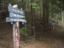 "Signpost says it all"" 4.4 miles round-trip to and from Twin Lakes."