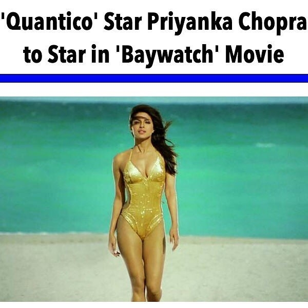 """I just love her. regram @celebedition '#Quantico' star Priyanka Chopra is the newest addition to the 'Baywatch' movie starring alongside Dwayne """"The Rock"""" Johnson and Zac Efron. ———————————————————— The 33-year-old Bollywood actress is cast as oil tycoon Victoria Leeds, the film's official villain. Chopra and Johnson made the official announcement by posting the news on Instagram. —————————————————— 'Baywatch' is slated for a May 2017 release. ————————————————— #CelebEdition #News #PriyankaChopra #DwayneJohnson #TheRock #ZacEfron #BayWatch #Follow #Movies #TheRock #Bollywood #Hollywood"""