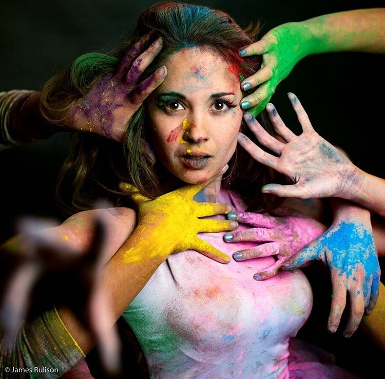 """Need an hand? No? How about a yellow one? regram @hendoart """"Sometimes, reaching out and taking someone's hand is the beginning of a journey. At other times, it is allowing another to take yours."""" ❤💛💚👋💙💜❤ (📷: @jrulison)  #paint #art #artist #color #rainbow #photography #photoshoot #model #cosplay #love #journey #adventure"""