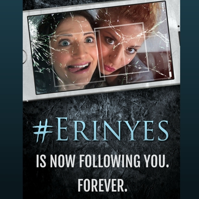 She Wanted Thousands of Followers. Now There Is One She Can Never Shake Off. Find #Erinyes here http://www.mythographystudios.com/books/erinyes-the-novel/  #selfie #selfienation #selfies #me #love #pretty #handsome #instagood #instaselfie #selfietime #face #shamelessselefie #life #hair #portrait #igers #fun #tbt #popularpic #greekmythology