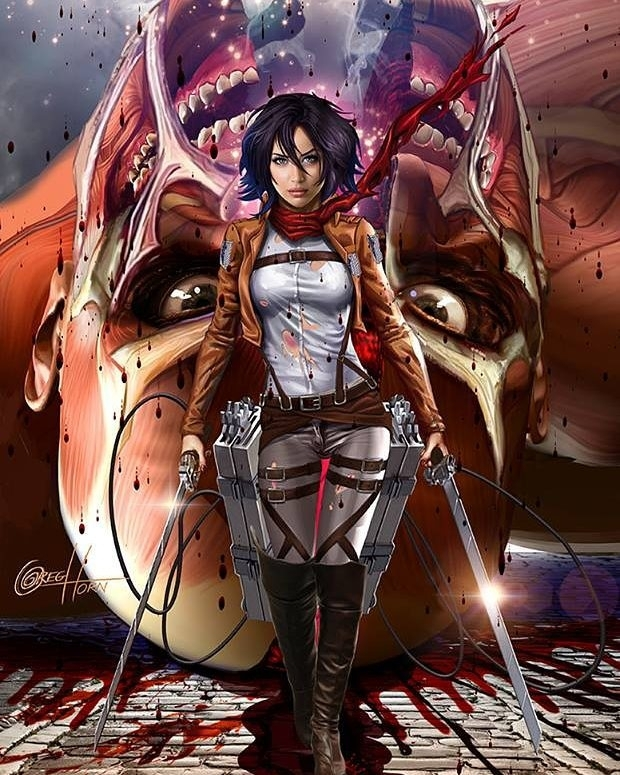 That's not fanart, that's twenty times better than the original horrible Attack on Titan art. regram @dude_wtf I just purchased this #print and I am so freaking excited! It's definitely one of the most #incredible #fanarts of #AttackOnTitan that I've ever seen. It's just… #amazing. 😍😍😍😍 #AoT #ShingekiNoKyojin #SnK #MikasaAckerman #ColossalTitan #GregHorn #Obsessed #CollectorProblems #mikasa #steampunkninja  #books  #read  #page  #instagood  #author #bestoftheday #love #photooftheday #imagine #plot #climax #story #book #manga #anime