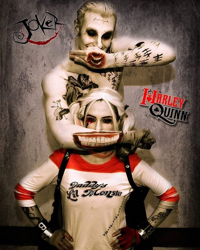 regram @spider_inferno Twisted minds play twisted games, Suicide Squad Joker and Harley Cosplay. I love the mouths on the Jokers hand and arm it's an insane way for him to switch smiles. I'm curious how it will be used in the movie… Photographed by Daniel Guertin. Harley @ladyharpoe.  Makeup by @chibbiti.  #joker #thejoker #suicidesquad #harleyquinn #harleysjoker #harley #DC #batman #cosplay #jaredleto #margotrobbie