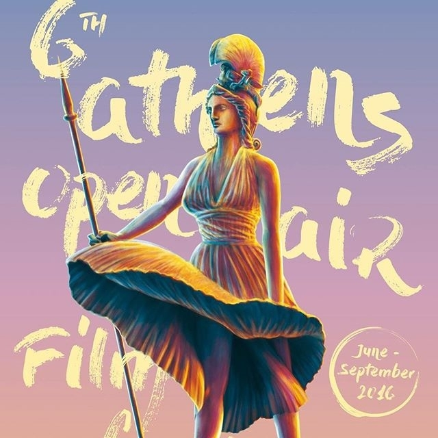 Interesting poster we have here, don't you think? Athens Open Air Film Festival. regram @strahd 6th Athens Open Air Film Festival poster. Athena as Marilyn. Love it :) #AthensOpenAirFilmFestival #poster #aiff #Athens #Greece #summer #filmfestival #2016