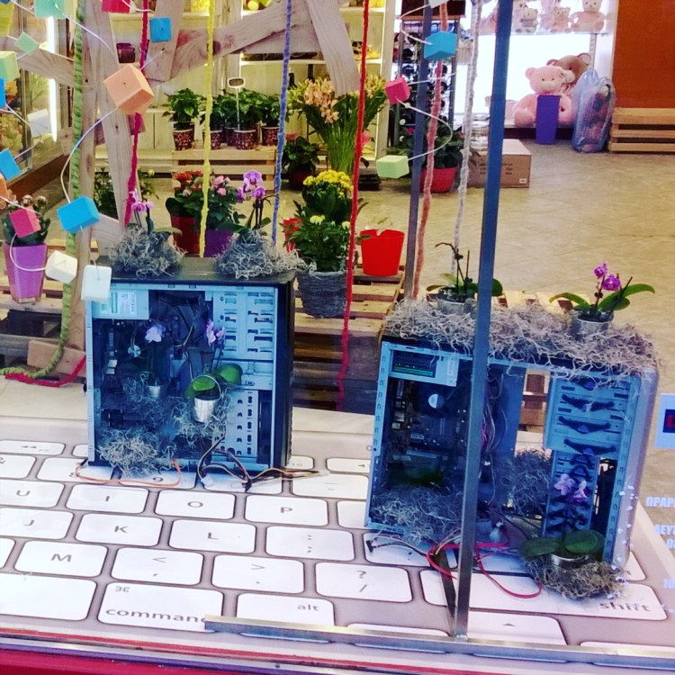 This flower shop has computer towers with flora growing out of them in windows. For some reason… #photography #photo #photos #pic #pics  #picture #pictures #snapshot #art #beautiful #instagood #picoftheday #photooftheday #color #all_shots #exposure #composition #focus #capture #moment