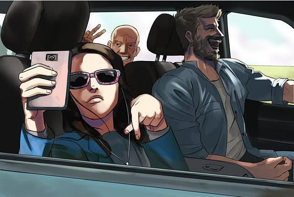 Patrict Stewart could have easily posed like this. #logan  #xmen #xavier #wolverine #weaponx#laura #x23 #roadtrip #bloodandmayhem
