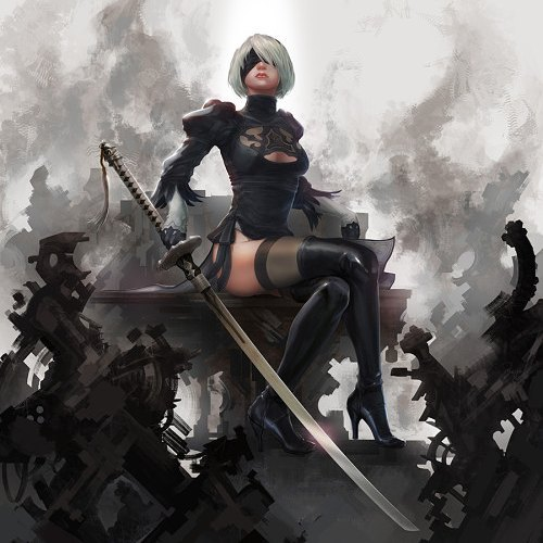 I love this character. And I love this pose.  NieR: Automata fan art by Zi GaGa #2b  #nierautomata #nier #automata #fanart #androids