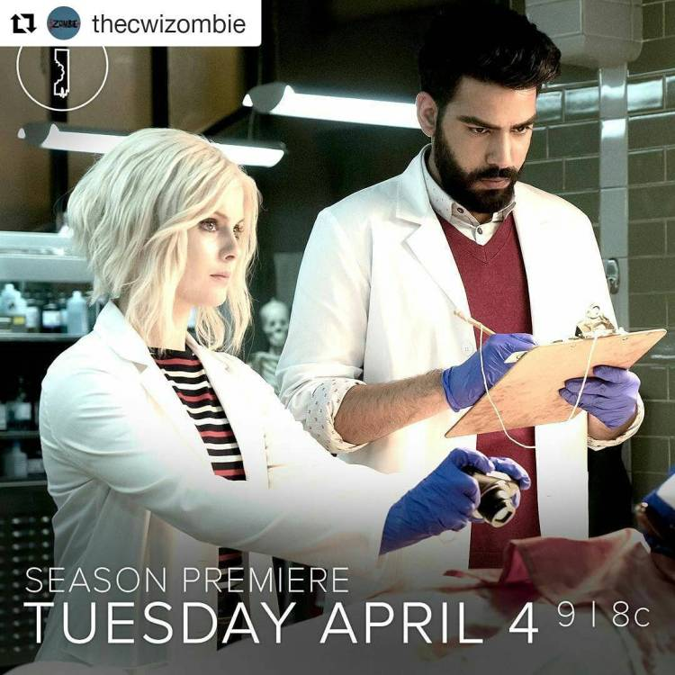 I missed iZombie a little  #Repost @thecwizombie ・・・ The undead are back on the case when #iZombie premieres Tuesday, April 4 on The CW!