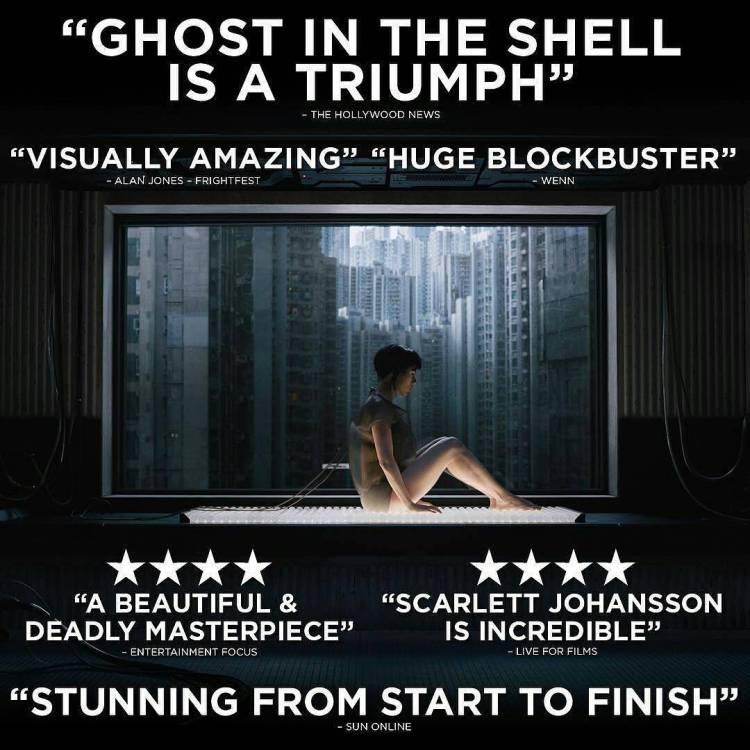 Great visuals, bad script. Ultimately disappointing. 3/5 for me.  #Repost @paramountuk ・・・ See #GhostintheShell on the big screen this weekend. #gits #ScarlettJohansson #cyberpunk  #scifi #flicks #instaflicks #cinema #motokokusanagi