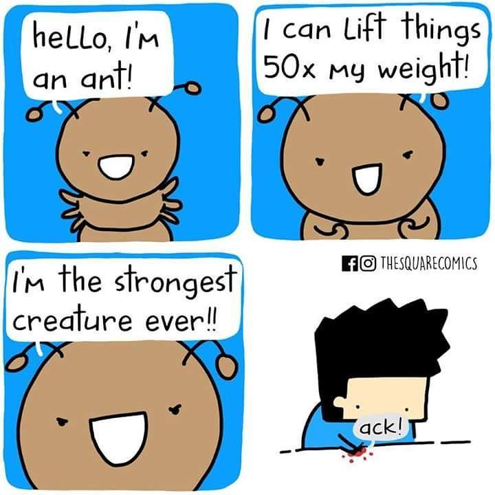 Shut up, ant. #comics #ants #superstrength