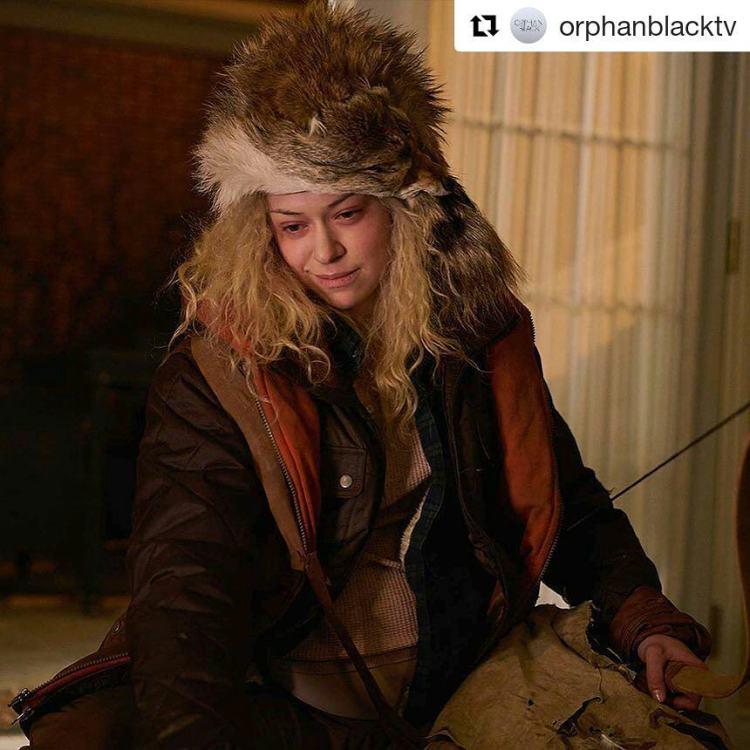 "I adore this whackjob.  #Repost @orphanblacktv ・・・ ""Donnie Hendrick… you look like roast pig."" #orphanblacktv #orphanblack #helena #cloneclub #villain"