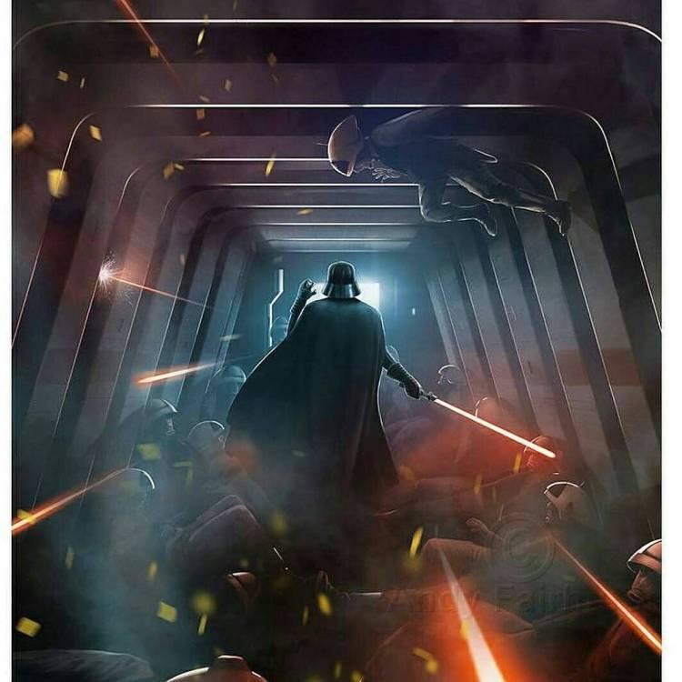Darth Vader in the corridor. Rogue One was worth it for that scene alone. #badass  #darkside  #starwars #rogueone  #lightsaber #forcechoke #darthvader #Vader