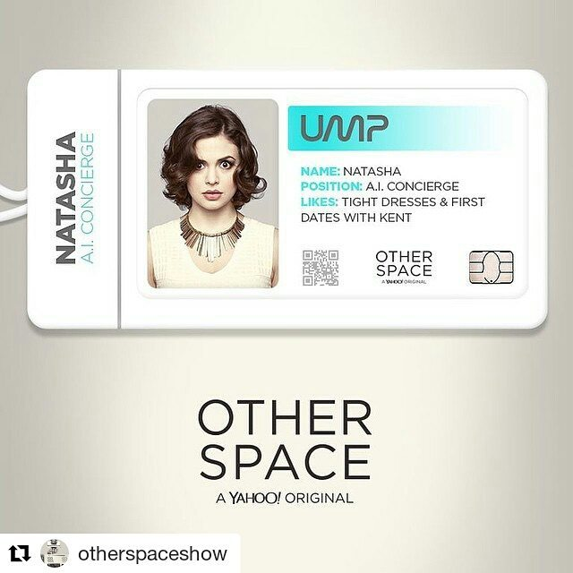 Conor Leslie, gorgeous and really really funny in Other Space.  #Repost @otherspaceshow ・・・ Siri & Cortana got nothing on Natasha. This attractive A.I. played by @conorleslie serves the ship beautifully.  http://yhoo.it/1GUobHt  #otherspace #conorleslie #space #comedy #paulfeig #scifi #bridge