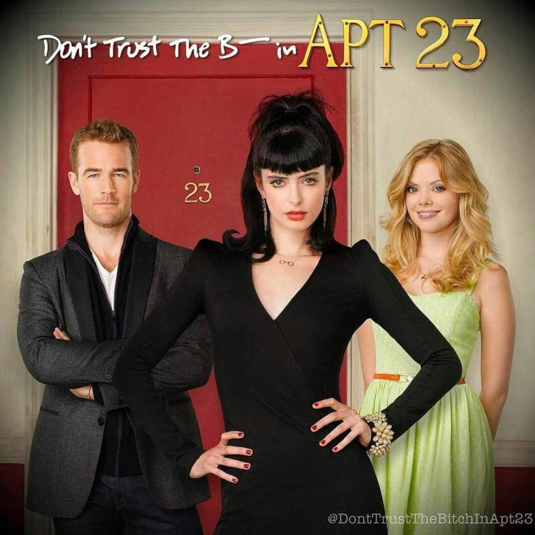 I liked this show at first. It seemed like a good place to get ideas for my Eris in Heartbreaker. But the show is too loco, it suffers from what we call Hollywood-Land problems, situations so far out there that end up being unrelatable. Especially Van Der Beek ended up very annoying. Certainly fun but ultimately forgettable.  #Repost @donttrustthebitchinapt23 ・・・ What do you miss most from #Apt23? What would love to see if and when the show gets revived? Let me know. #BringBackTheB #KrystenRitter #DreamaWalker #JamesVanDerBeek
