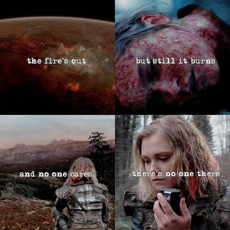 What a kickass finale! So many questions, arghhh!  #Repost @hedabellarke ・・・ [4.13/Clarke Griffin] im not sorry for posting my babe two times today🤷‍♀️ anyways, Clarke Griffin deserves better that is all👌🏻 — I love my filter sm honestly  #the100#thecw#love#praimfaya#clarkegriffin#grounders#fight#abbygriffin#elizataylor