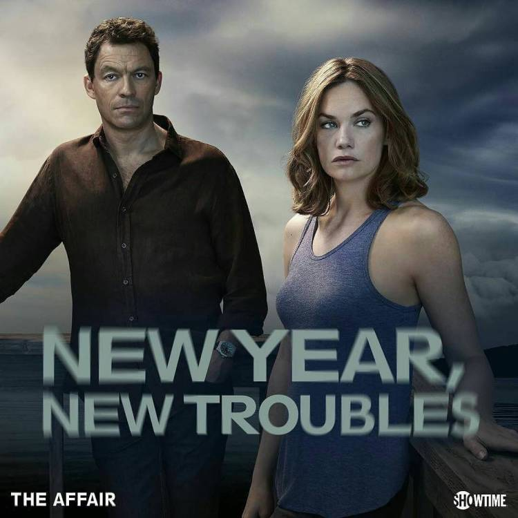 God, this show is sexy! So many hot scenes, and the drama is excellent. Love the Rashomon multi point of view storytelling, truly enthralling.  #Repost @sho_theaffair ・・・ What storms will the new year bring?  #TheAffair #Showtime #HappyNewYear #2016 #sexy #netflix #filmmaking #rashomon