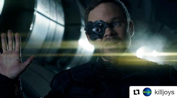 Killjoys season 3. Prepare to be assimilated!  #Repost @killjoys ・・・ Our faces when you tell us we still have to wait a few hours for the new episode. #Killjoys #cyberpunk #victoriamodesta