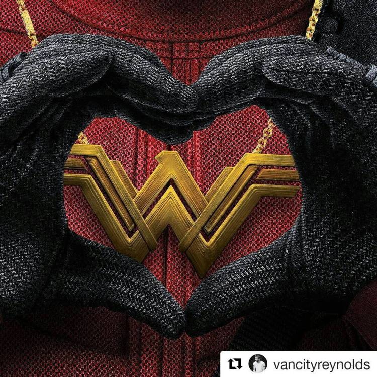 Deadpool is a gentleman. After all, there's room for both of them at the top. And there's some sort of a sexual innuendo hidden in that statement.  #Repost @vancityreynolds ・・・ The Merc May Be Filthier, but Her B.O. is Stronger. Congrats #WonderWoman #BoxOfficeBoss #deadpool #ryanreynoldsisdeadpool