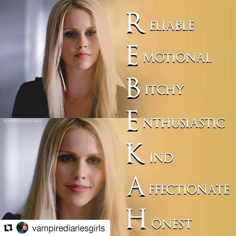 Why does everyone keep stabbing poor Rebekah in the back? 😭  #Repost @vampirediariesgirls ・・・ 💛 R E B E K A H 💛 – Made one of these again, since they were really appreciated last time I did these… 💓 – Thinking of reposting my older ones also… hehhe as a theme maybe. 🍍 – Q; Do you agree with the descriptions?☺️ #theoriginals #thevampirediaries
