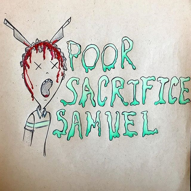 Sacrifice Samuel, doesn't even know these guys. regram @kellyamazing Watched The Babysitter on Netflix yesterday. I really loved it, go watch it. . . #doodlesofthedead #halloweendrawing #inktober #thebabysitter #netflix #sacrificesamuel #doodle #horror #horrormovies #doodle #artistsoninstagram
