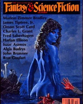 I'm reading Harlan Ellison's oldies. Cover unrelated, but it was cool before Avatar became cool. Also, I've submitted a few stories on the magazine F&SF. #publication #author #harlanellison #bluechicks #fantasyandsciencefictionmagazine #fantasyandsciencefiction  #scifi #bookstagram #illustration #merwoman