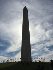 The Washington Monument, in the full glory of a March day!