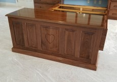 raised panel hope chest