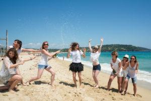 Un EVJF sur les plages de Ramatuelles près de Saint-Tropez