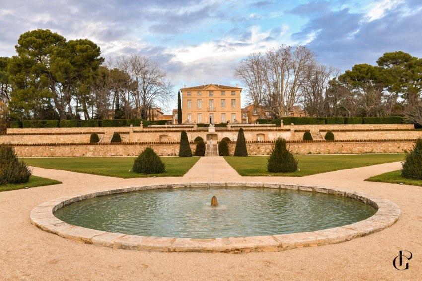 un mariage féérique en hiver au chateau de la gaude Aix en Provence