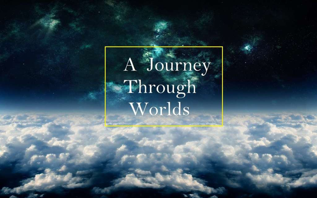 Journey through worlds logo with a gold box around it
