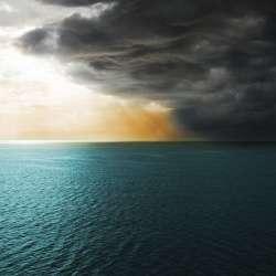 A dark storm at sea