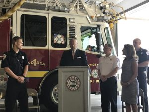 Photos: Georgetown Police and Fire Departments Welcome Lt. Gov. Karyn Polito After Earning Communications Grant