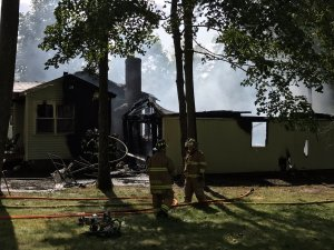 Georgetown Fire Department Extinguishes Two-Alarm House Fire
