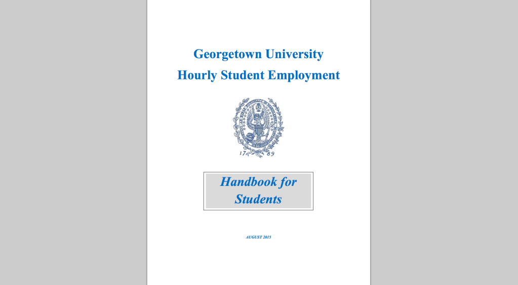 Student Employment Office standardizes student employee rights in new handbook