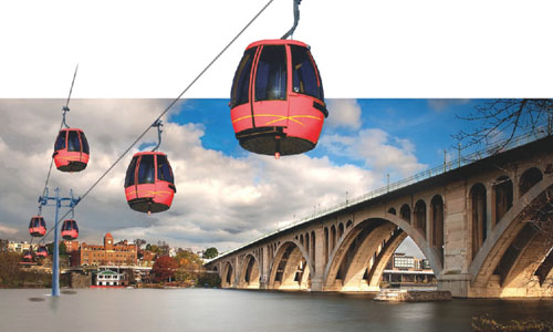 Georgetown contributes funds for aerial gondola feasibility study