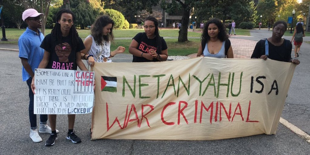 Netanyahu panel interrupted by protest