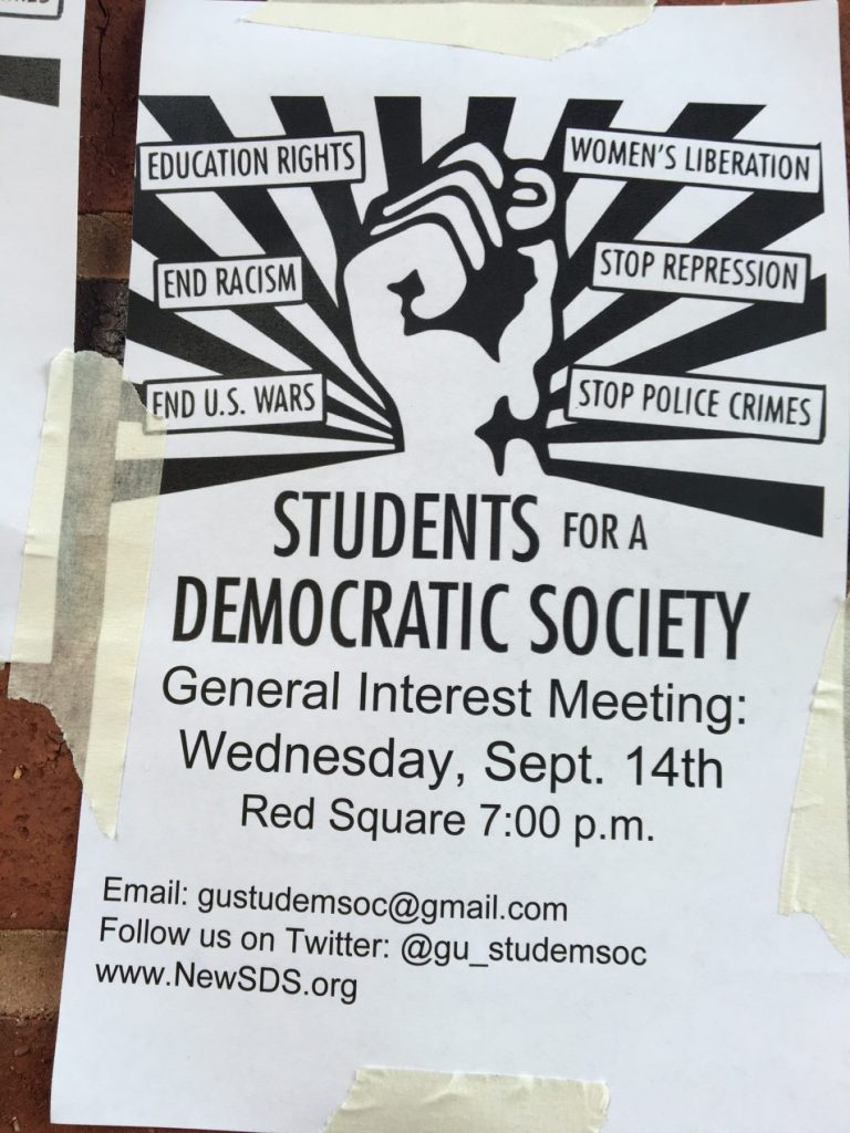 Leftist group tries to establish itself on campus