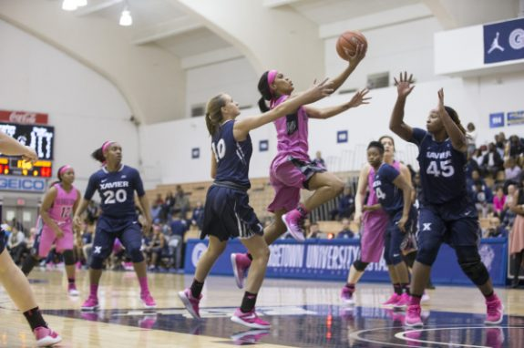 Women's basketball seniors end home career on a high note