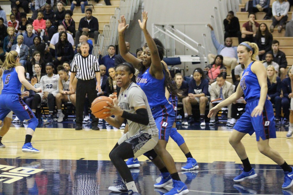 Back to Earth: Women's basketball falls short in fourth quarter against DePaul