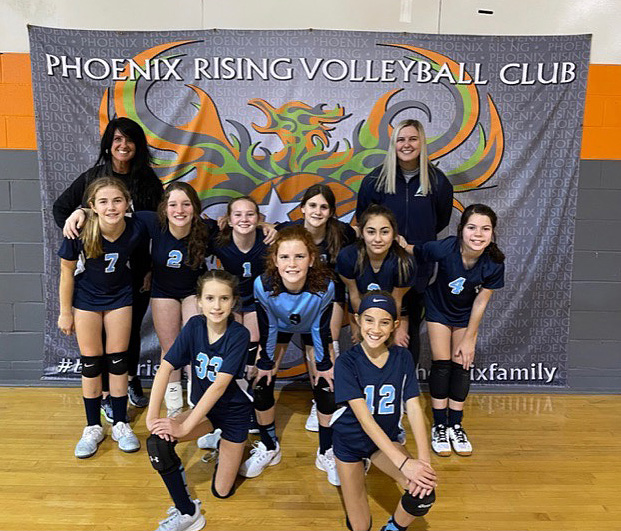 Georgia Adrenaline Volleyball Club, Team 12-Jamie win their first tournament at the 2021 Snowball Bash in Canton, GA.