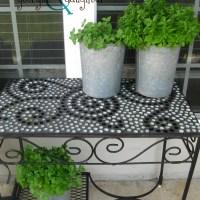 {DIY} Mosaic Tables