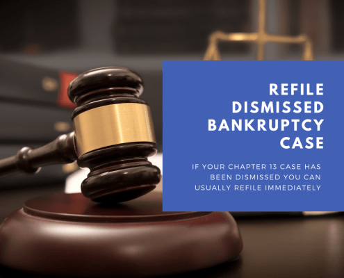 refile dismissed bankruptcy case in Atlanta Georgia with Atlanta bankruptcy lawyer