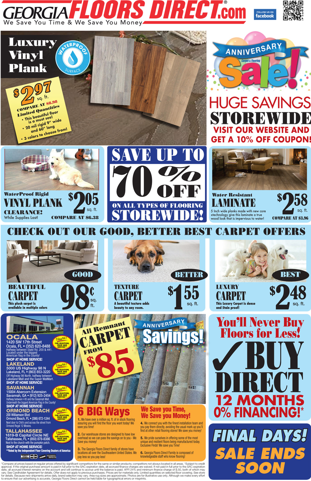 Specials at our Ocala store