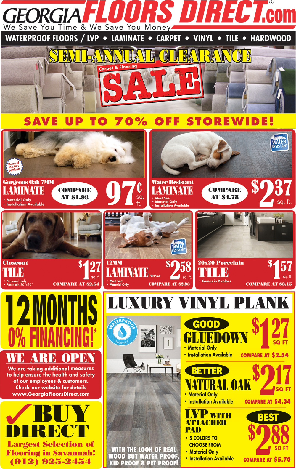 Specials at our Savannah store