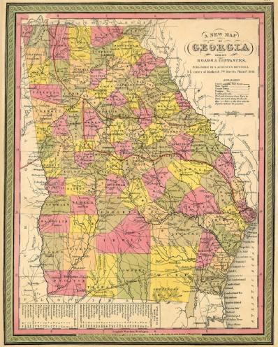 1846 Map of Georgia
