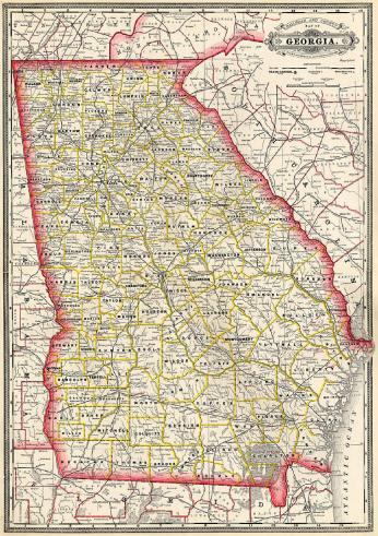 1885 Map of Georgia