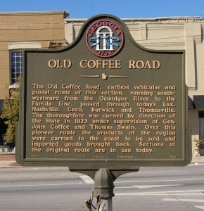 Old Coffee Road marker