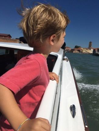 Wyatt takes in the Venice skyline