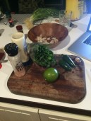 ingredients for the green sauce