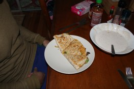 perfect quesadillas! Thank you pizza maker!