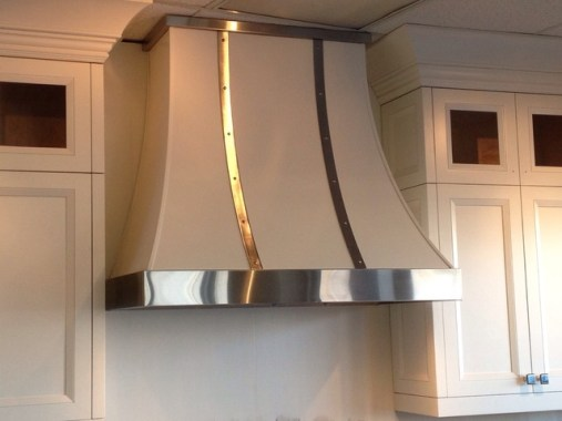 white stainless hood